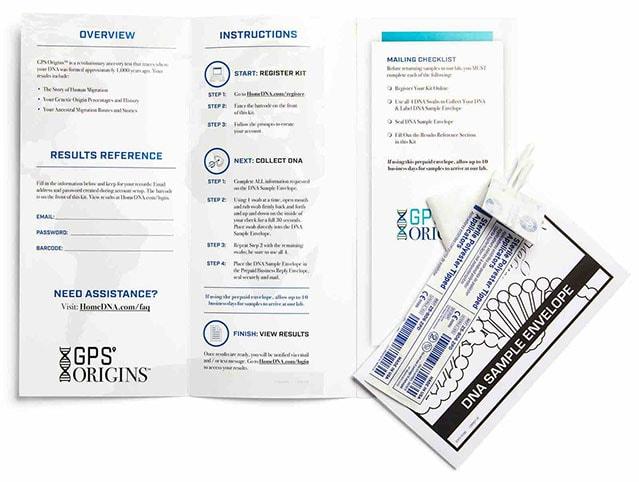 GPS Origins DNA Home Test Kit